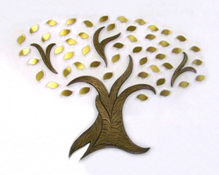 Small Brass Donor Tree